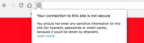 Website with insecure connection