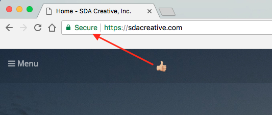 Secure badge in Chrome